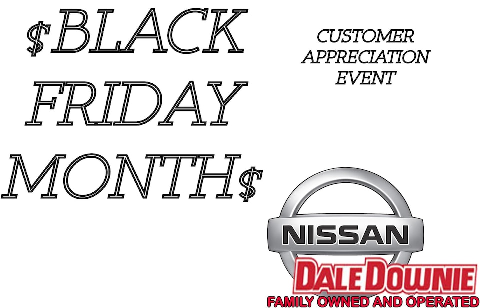Nissan Clear out - Black friday Month!