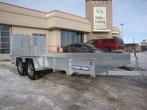 2017 Sure-Trac 7X16 Galvanized/Tandem UTILITY TRAILER LEASE, FINANCE, OR RENT