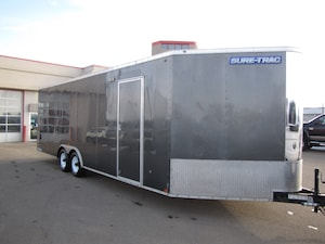 2015 Sure-Trac 8.5X24 ENCLOSED WEDGE FRONT CAR HAULER LEASE, FINANCE, OR RENT