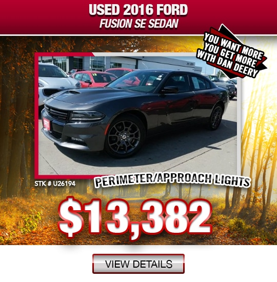 $13,382 Purchase Offer On A Used 2016 Ford Fusion SE Sedan