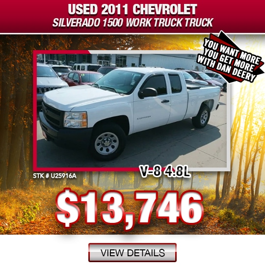 $13,746 Purchase Offer On A Used 2011 Chevrolet Silverado 1500 Work Truck