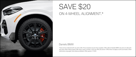 Save $20 On a 4 Wheel Alignment