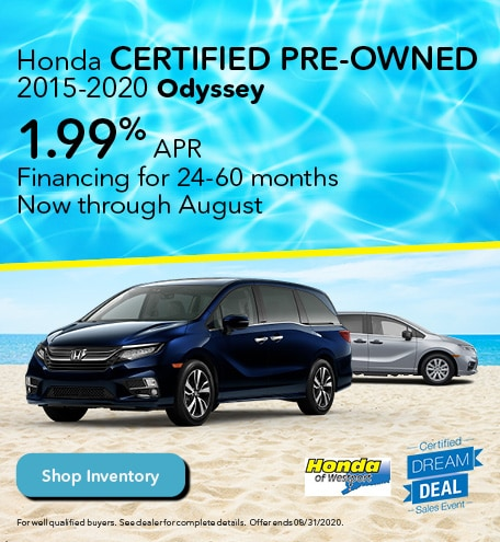 Honda Certified Pre-Owned 2015-2020 Odyssey