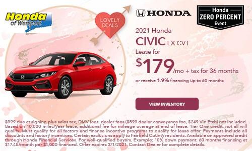 2021 Honda Civic LX CVT- February Offer