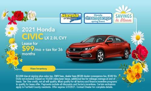 2021 Honda Civic - April Offer