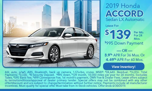 2019 Honda Accord Sedan LX Automatic