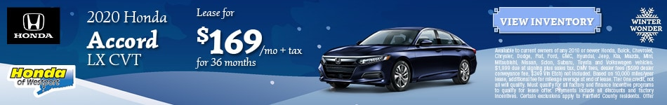 2020 Honda Accord LX CVT- January Offer