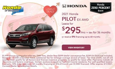 2021 Honda Pilot EX AWD-  February Offer