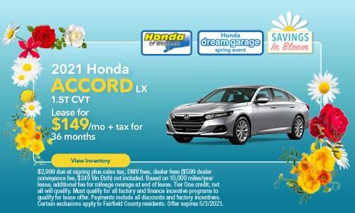 2021 Honda Accord - April Offer