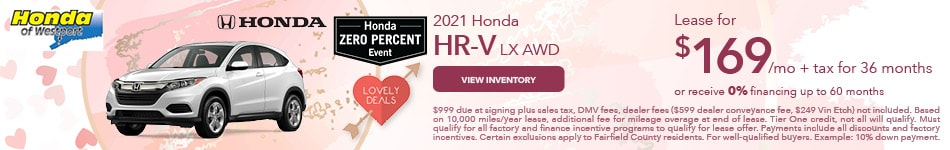 2021 Honda HR-V LX AWD- February Offer