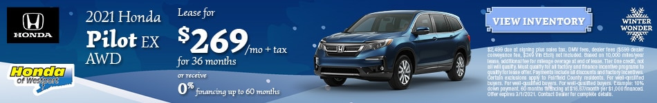 2021 Honda Pilot EX AWD- January Offer