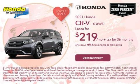 2021 Honda CR-V LX AWD- February Offer