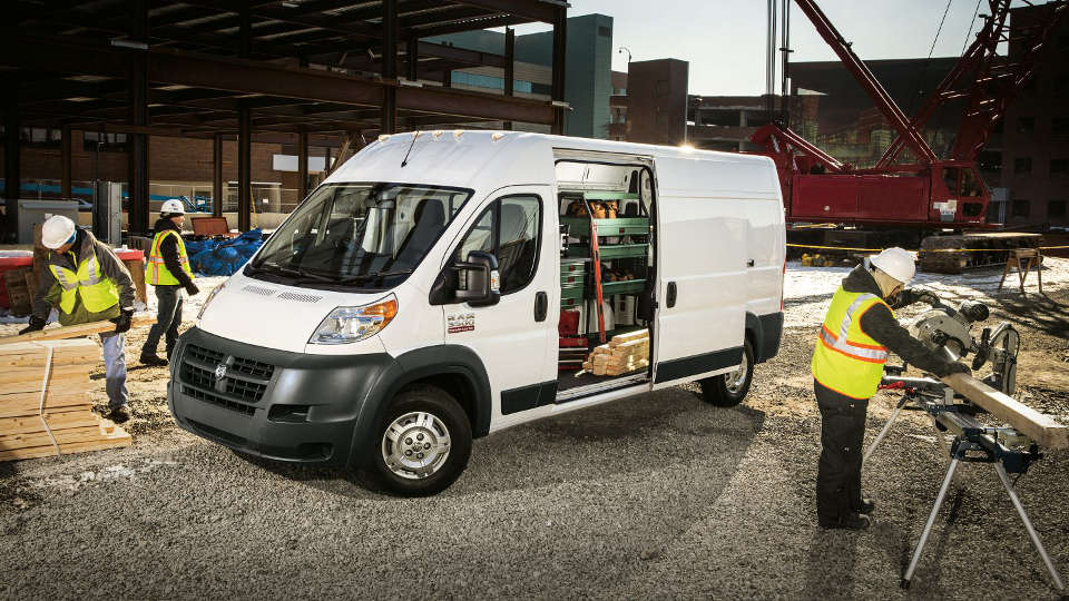 Men working near a Ram ProMaster 3500