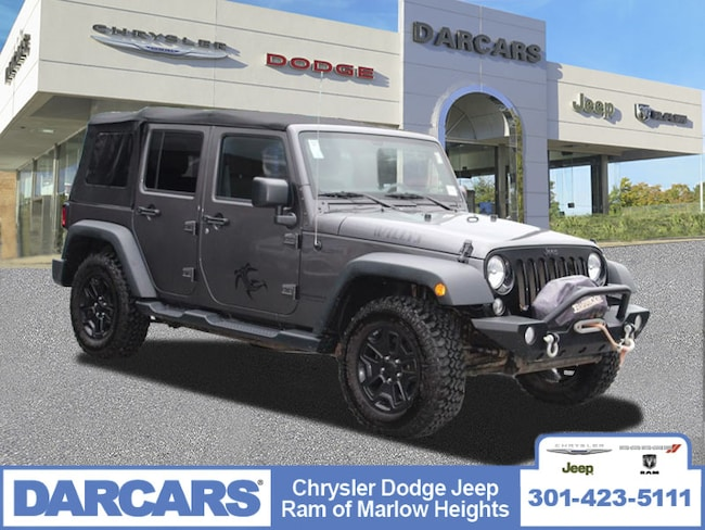 Used 2016 Jeep Wrangler Unlimited Willys Wheeler SUV Temple Hills