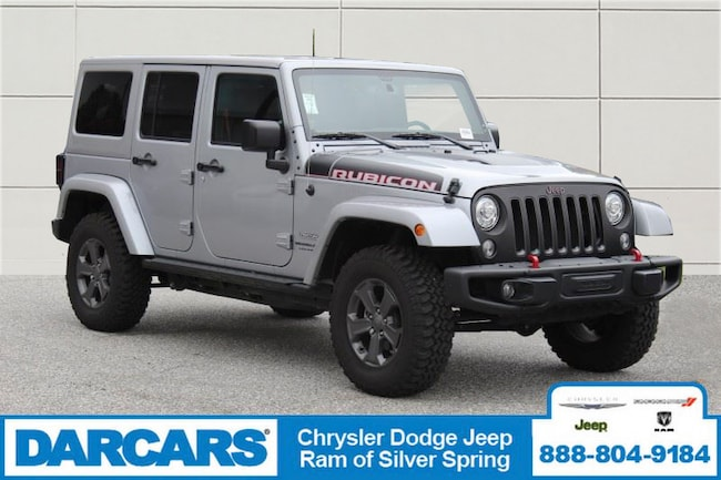 Used 2018 Jeep Wrangler JK Unlimited Rubicon 4x4 SUV Silver Spring