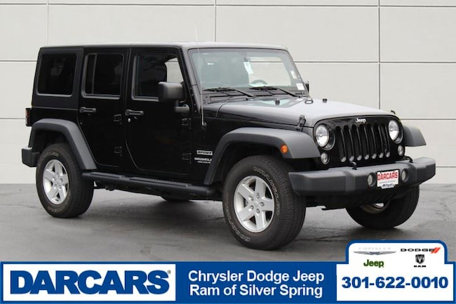 Used 2017 Jeep Wrangler JK Unlimited Sport 4x4 SUV Silver Spring