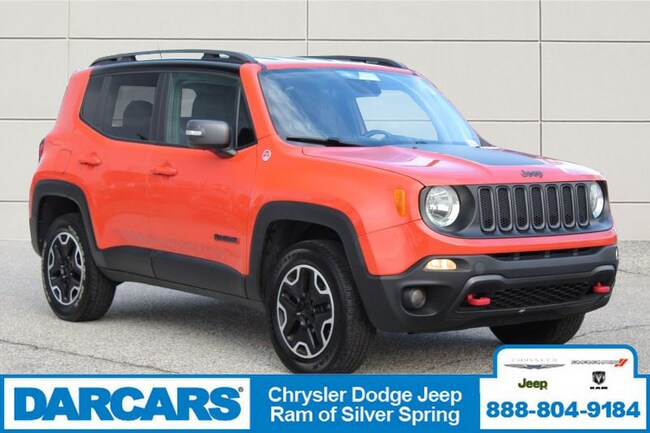 Certified Pre-Owned 2015 Jeep Renegade Trailhawk 4x4 SUV in Silver Spring