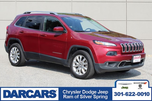Used 2015 Jeep Cherokee Limited 4x4 SUV Silver Spring