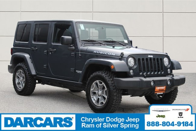 Certified Pre-Owned 2017 Jeep Wrangler JK Unlimited Rubicon 4x4 SUV in Silver Spring
