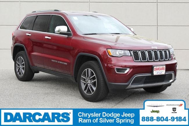 Certified Pre-Owned 2018 Jeep Grand Cherokee Limited 4x4 SUV in Silver Spring