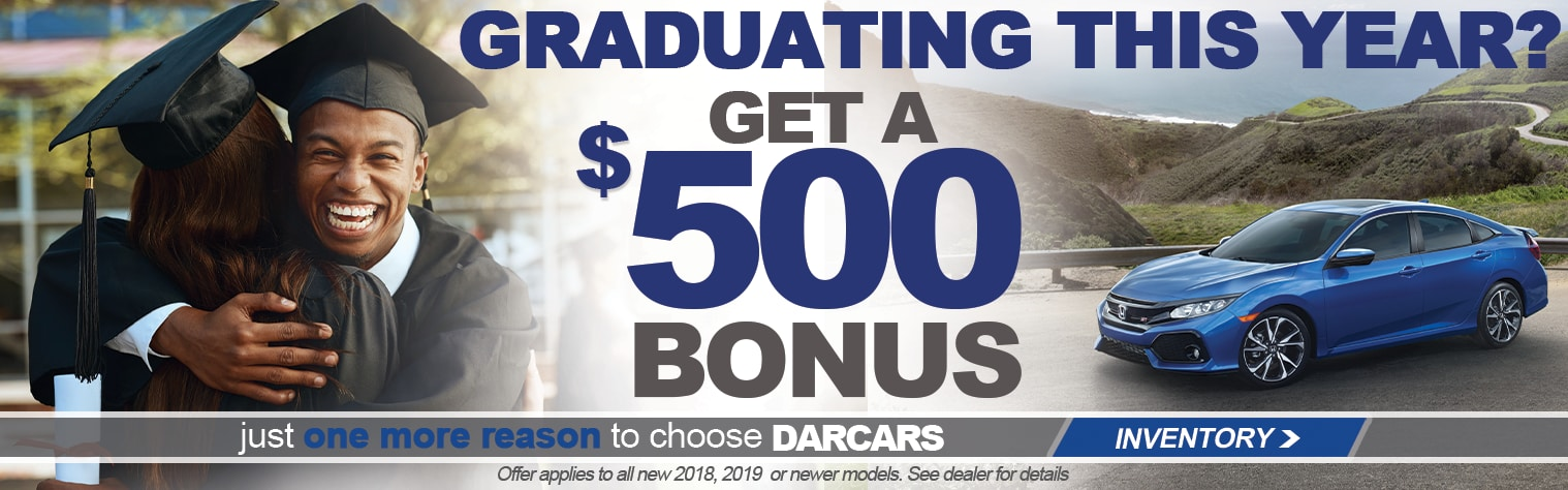 Honda Financial Services Account >> Darcars Honda Offers Recent College Graduates Savings On New Honda