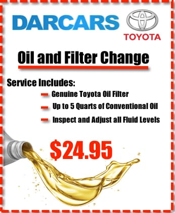 toyota service specials and coupons darcars toyota of silver spring maryland 20904. Black Bedroom Furniture Sets. Home Design Ideas