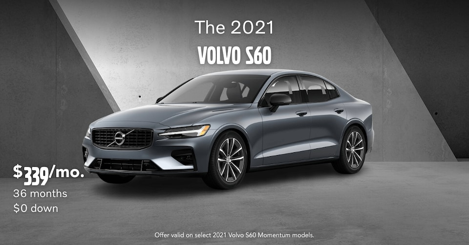 New 2021 Volvo S60 T5 Momentum Lease Special