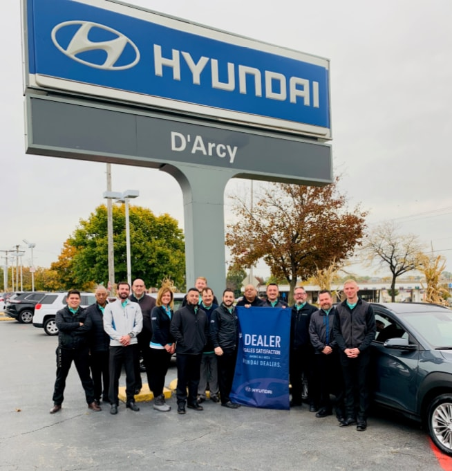 D'Arcy Hyundai Named #1 Hyundai Dealer in the District for Sales Customer Satisfaction Quarter 3 of 2019