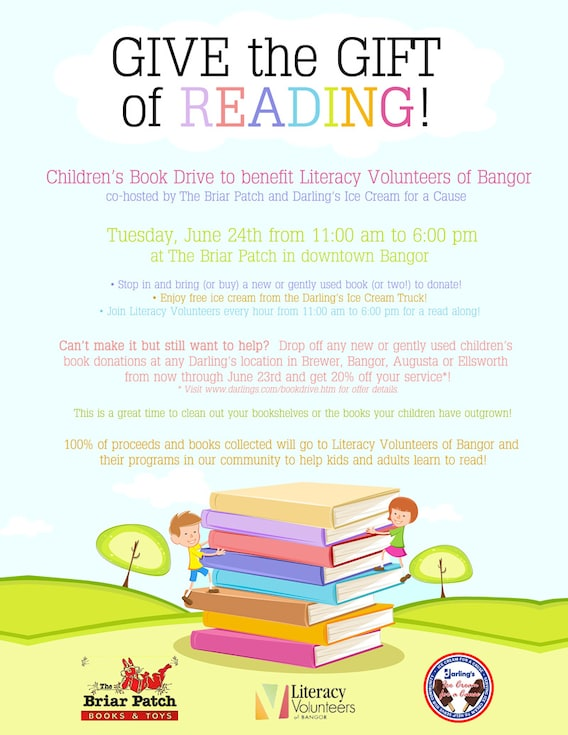Annual Book Drive and Bookmobile | Darling's