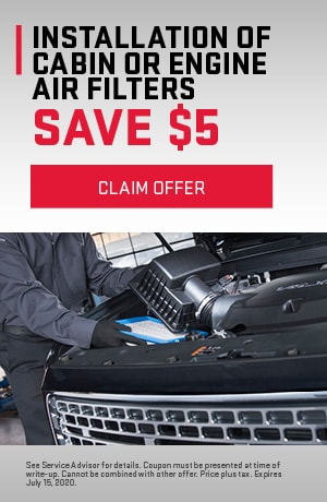 Cabin or Engine Air Filter