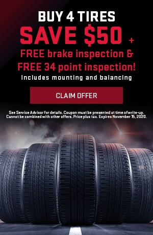 Buy 4 Tires Save $50 On Inspections