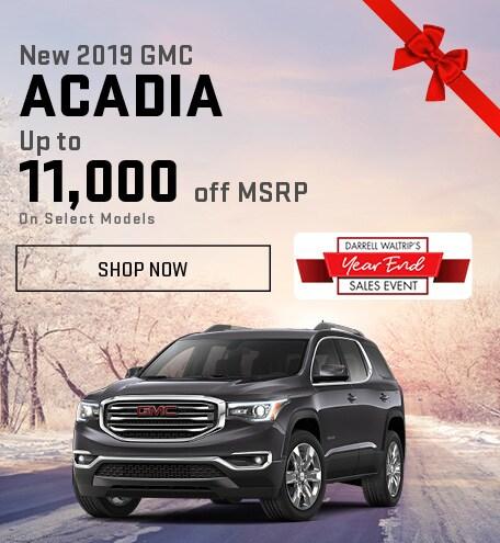 New 2019 GMC Acadia