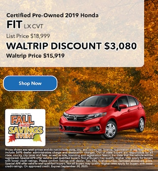 Certified Pre-Owned 2019 Honda FIT LX CVT