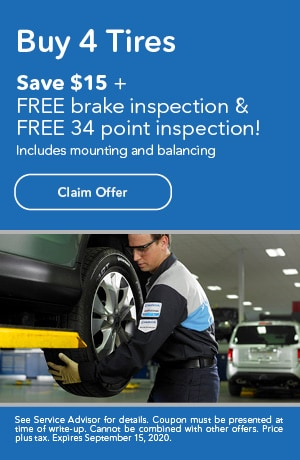 Buy 4 Tires Save $15 On Inspections