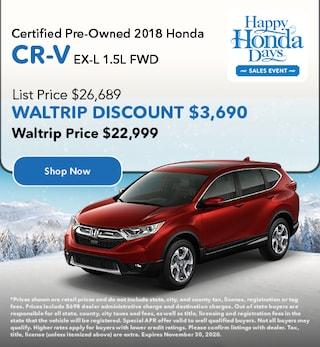CPO 2018 Honda CR-V