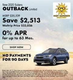 New 2020 Subaru Outback Limited