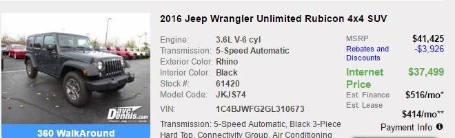 2016 at EP | Dave Dennis Chrysler Jeep Dodge Ram