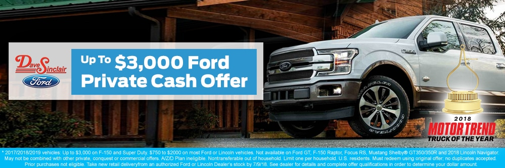 Dave Sinclair Ford Q2 Private Offer   St. Louis, MO