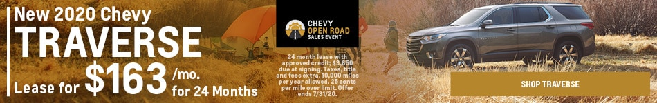 New 2020 Chevy Traverse | Lease