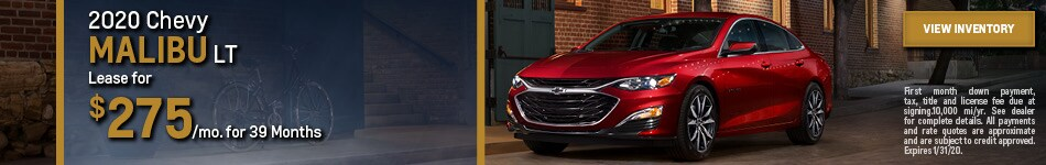 New 2020 Chevy Malibu LT | Lease