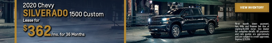 New 2020 Chevy Silverado 1500 Custom | Lease