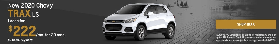 New 2020 Chevy Trax | Lease