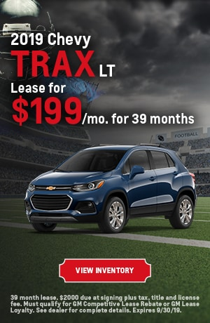 September | 2019 Chevy Trax LT | Lease Offer