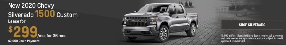 New 2020 Chevy Silverado 1500 Custom | Lease
