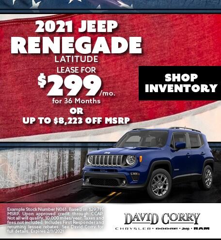 2021 Jeep Renegade Latitude January