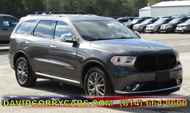 certified 2014 Dodge Durango Citadel AWD  Citadel for sale in Corry, PA at DAVID Corry Chrysler Dodge Jeep Ram