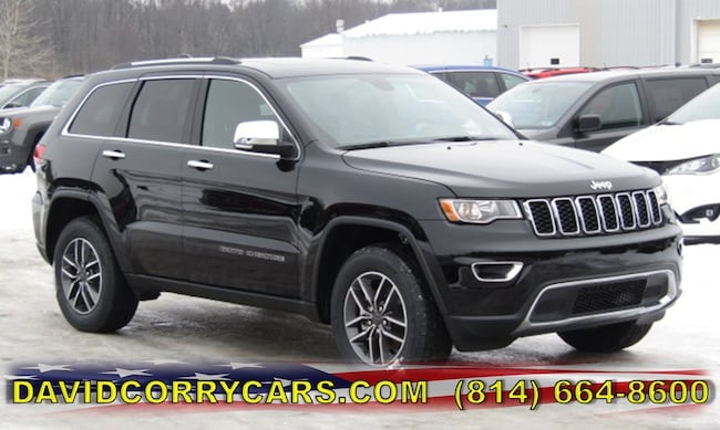 New 2019 Jeep Grand Cherokee LIMITED 4X4 Sport Utility for sale in Corry, PA at DAVID Corry Chrysler Dodge Jeep Ram