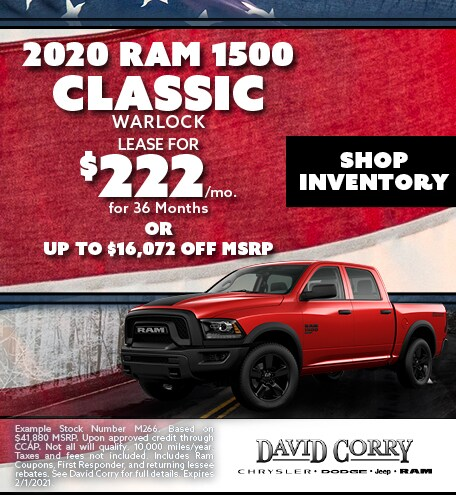 2020 Ram 1500 Classic Warlock January