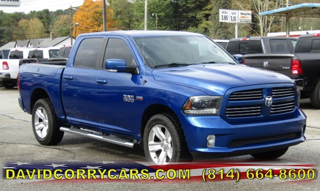 certified 2015 Ram 1500 Sport 4WD Crew Cab 140.5 Sport for sale in Corry, PA at DAVID Corry Chrysler Dodge Jeep Ram