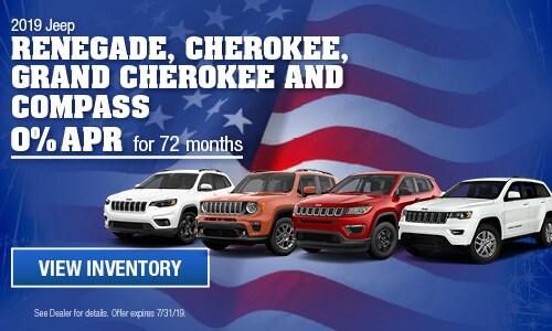 2019 Jeep Renegade, Cherokee, Grand Cherokee, & Compass